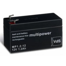 AGM-akku 1,2Ah 12V lyijyakku Multipower MP1,2-12 VDS